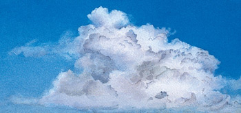 How to Paint Clouds by James Toogood - step one