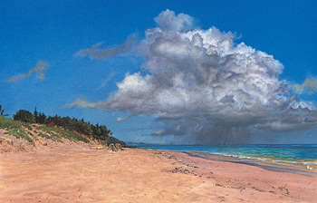 "All the cloud edges are now softened in ""Elbow Beach"" by James Toogood."