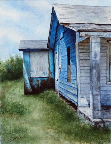 """Clapboard"" by Sheldon Saint | Island Watercolor Paintings"