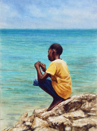 """Untangling His Line"" by Sheldon Saint 