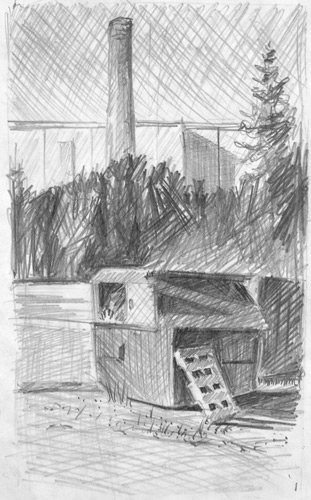 Pencil Sketching of a Shed | Sketching Before Plein Air Painting