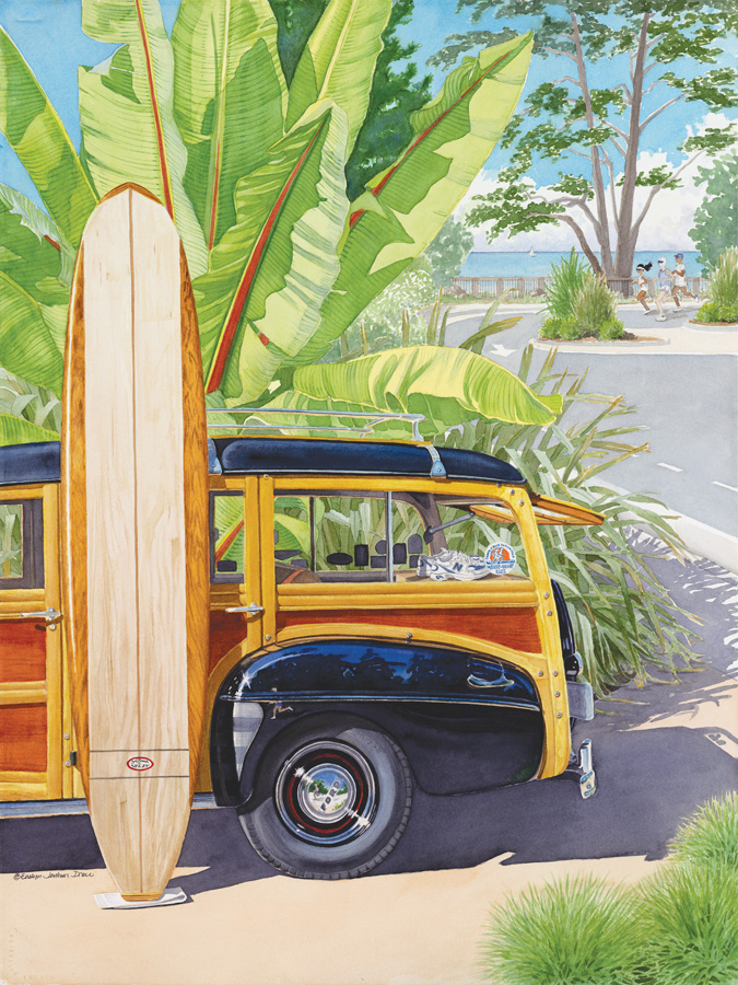Best of Watercolor, Surf Town Run (T) by Evelyn Jenkins Drew