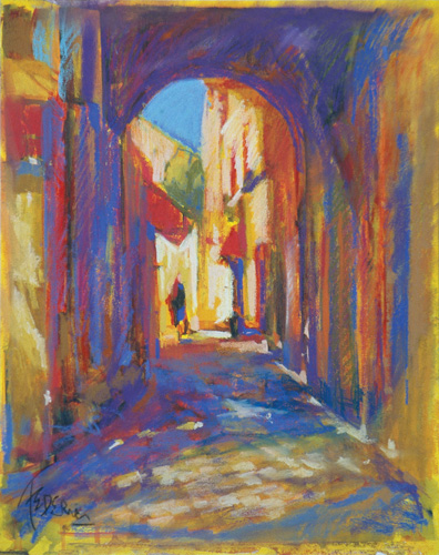 """""""Obidos Alley"""" by Frank Federico 
