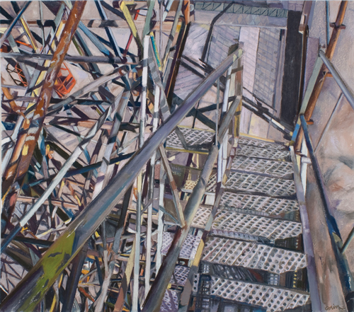 """""""Riverside Scaffolding I"""" by Patricia Cain 