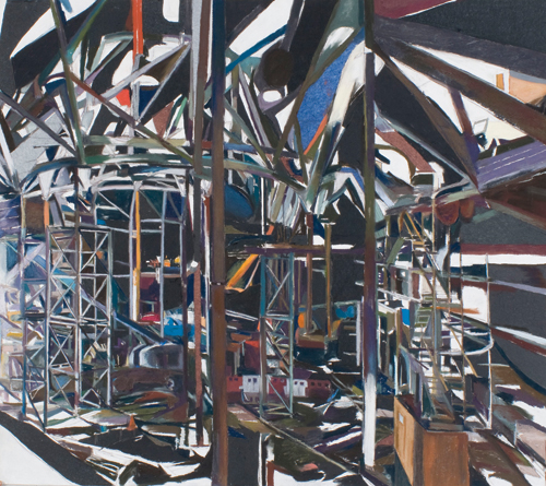 """""""Riverside Scaffolding III"""" by Patricia Cain 