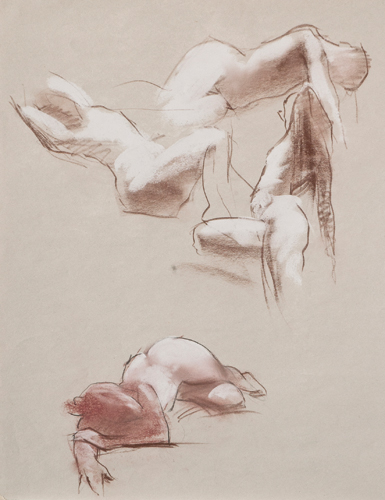 Robert Palevitz, Figure Reclined | Quick Sketches