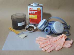Koo Schadler's supplies for making transfer paper
