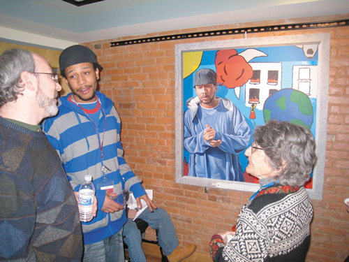 Tyreece at a Public Showing of the Mural Arts Program's Paintings | Youth Violence Reduction Partnership