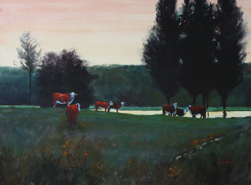 Green Pasture by Bill Bailey | watercolor landscape