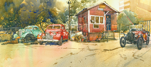 East West Moscow by Chris Myers | watercolor landscape