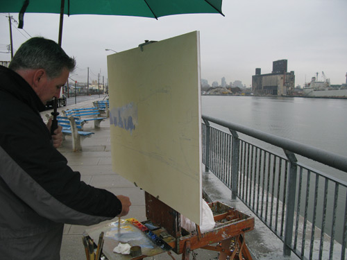 Joe Paquet, painting en plein air