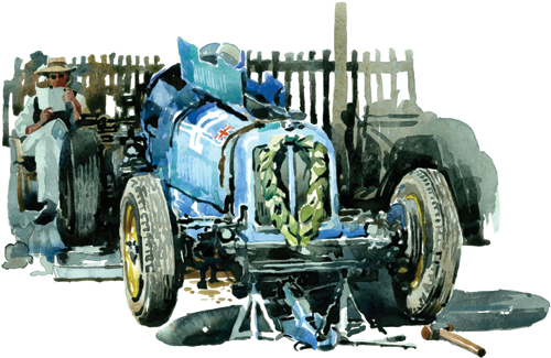 Remus by Chris Myers   watercolor automobile