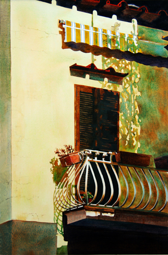 Somewhere in Sorrento by Robin Erickson | watercolor landscape