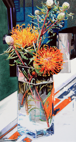 Pincushion Protea by Robin Erickson | watercolor still life