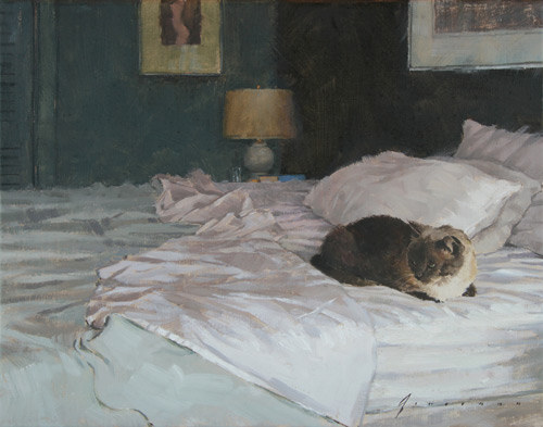 Vincent Giarrano fine art, cat painting