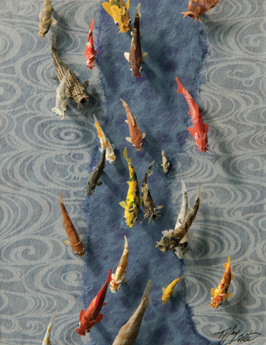 Tiffany Miller Russell fine art, fish painting