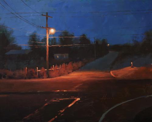 Jason Scaran, acrylic landscape painting