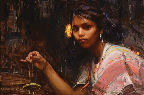 Scott Burdick portrait painting