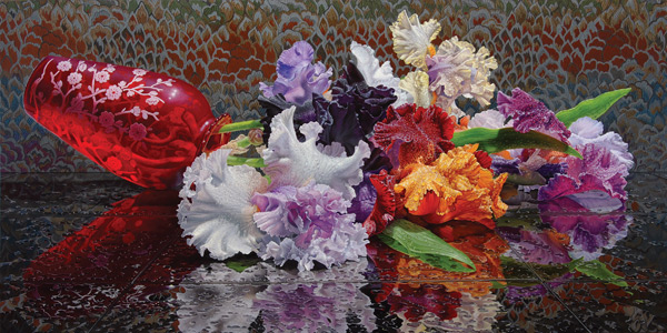 """Crush"" by artist Eric Wert (oil, 24x48)"