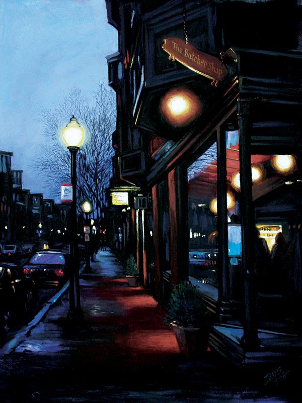 Chops by Christine Ivers | pastel cityscape, pastel landscapes