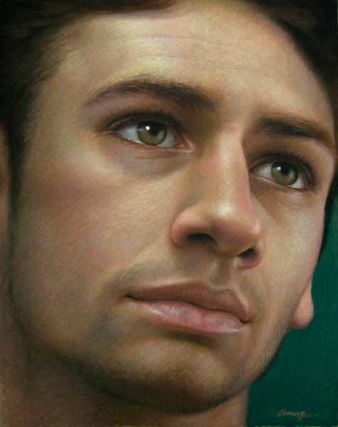 Cuong Nguyen, Portrait of a Young Italian, pastel painting