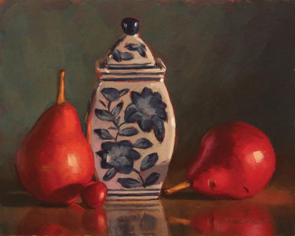 Sarah Blumenschein pastel still life painting