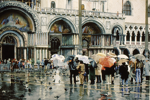 watercolor landscape Venice 4th place by William McAllister | watercolor competition