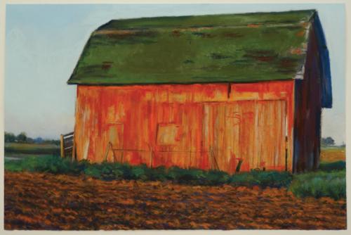 Carey Barn by Bobbie McKibbin | pastel painting