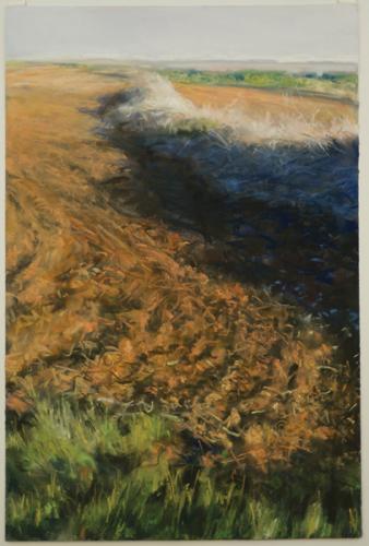 Carey Farm, Western Iowa 1 by Bobbie McKibbin | pastel painting