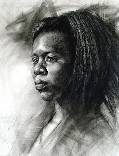 Toni (pastel) by Z.L. Feng | pastel portraits