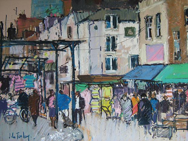 Wentworth Street Market (pastel) by John Tookey