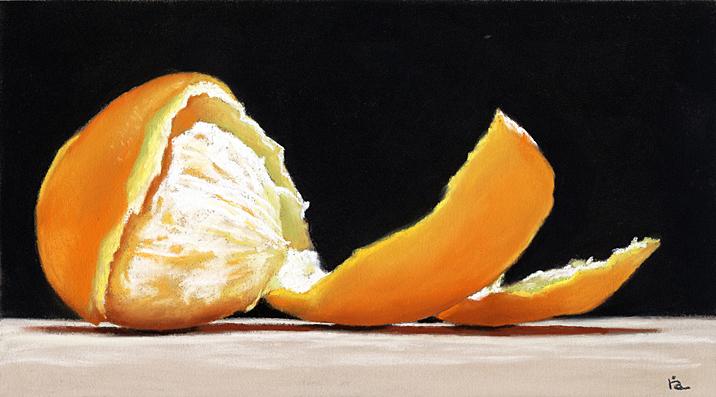 orange-spiral_6x10 by ria hills