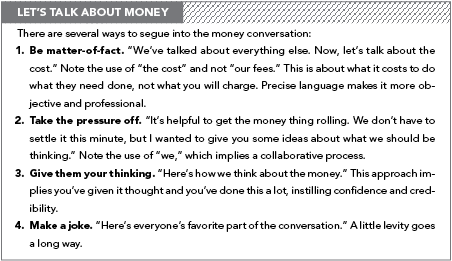 Talking about money: How to get your clients to discuss their budget