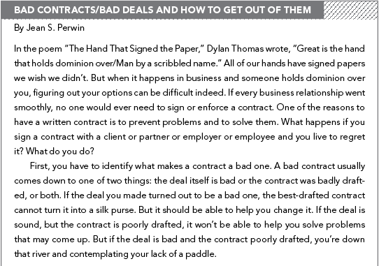 Contract Negotiations for Artists: Contract Template & Sample Contract