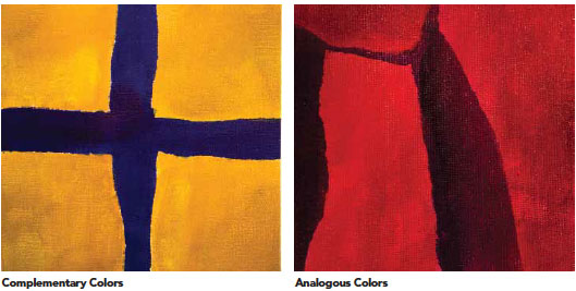 Complementary Colors And Analogous In Abstract Art Paintings