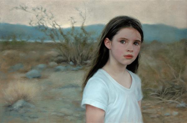 Aine, Death Valley (20x30) by Katie O'Hagan contemporary portrait artist