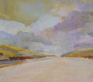 abstract pastel landscape by Barbara Noonan