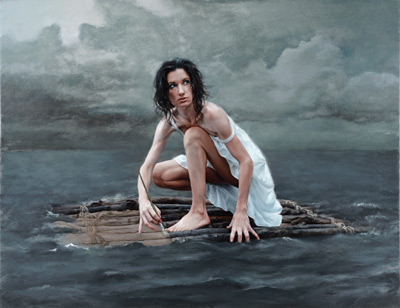 Life Raft by Katie O'Hagan, oil figure painting