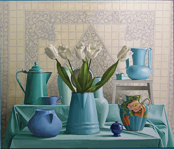 Acrylic Still Life painting by Nancy Hagin