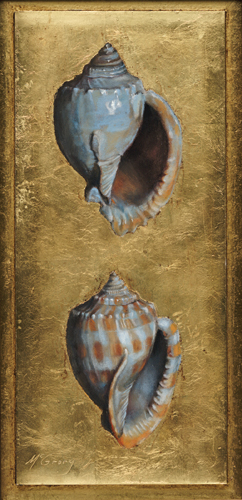 Bonnet Shells (pastel) by Anne McGrory