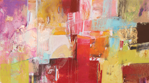 Copper and Red Series 5 (pastel) by Jennifer Gardner
