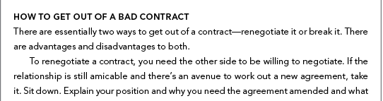 Contract Negotiations For Artists Contract Template Sample Contract
