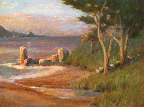 Indirect Painting, Evening at the Cove