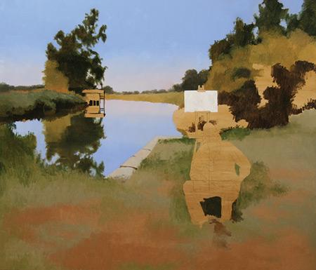 Ryan S. Brown, painting trees