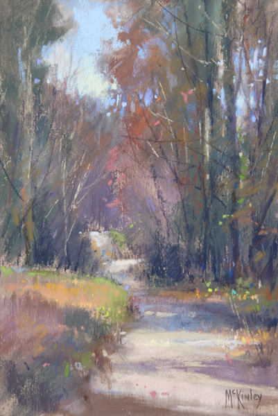 Asheville Fall (pastel, 9x6) by Richard McKinley