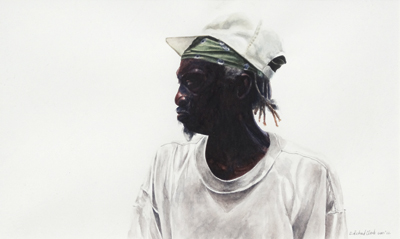 watercolor portrait painting by E. Richard Clark