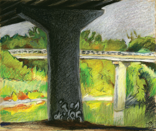 Graffiti by the River by Marcia Milner-Brage