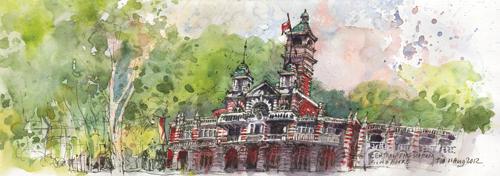 Fire Station at Lorong Telok by TIA Boon Sim