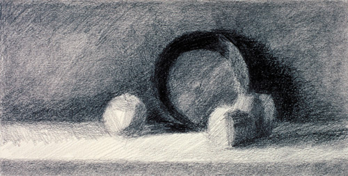 Determining light direction in still life drawing demo | Juliette Aristides at ArtistsNetwork.com