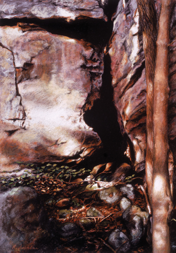Bluff Wall (pastel) by Adrian Deckbar